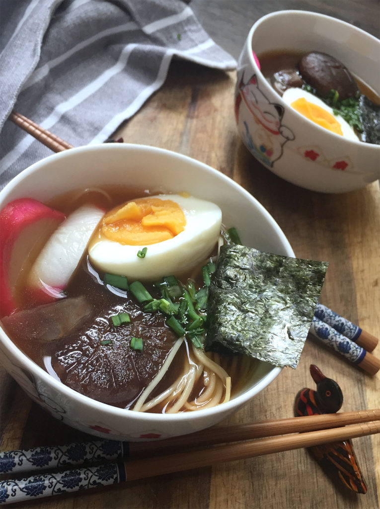Receta de sopa de fideos ramen